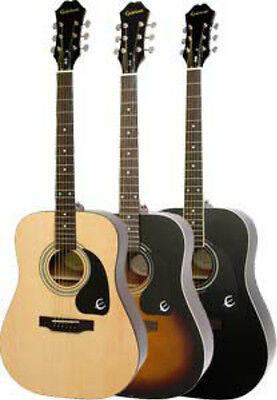 Epiphone DR-100 Acoustic Guitar Select Spruce Top 3 Finishes Available *NEW*