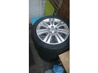 R-17 alloys+tyres 5 110 set of 4 wheels Vauxhall signum vectra