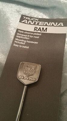BILLET ANTENNA DODGE RAM EMBLEM TRUCK CAR UNIVERSAL 1500 2500 3500 CHARGER  ()