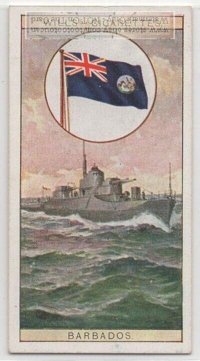 Colonial Flag Of Bahama Islands Caribbean British 80+ Y/O  Ad Trade Card