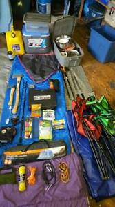 Full camping equipment for 1 to 3 persons - For sale full set or