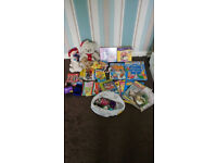 Mixture of Childrens Toys, Colouring Books (with Wax Crayons and Pencils) and Reading Books