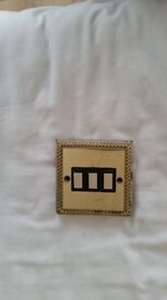 Triple Gold Light Switch