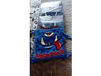 BNIB Boys Towel bag that turns into XL Towel. Also Octopus towel poncho