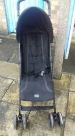 britax stroller in black full woking order, is sed but still plenty of use left in it