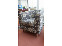 Patterned Tub Chair - hardly used
