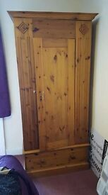 3 Piece Single Pine Wardrobe