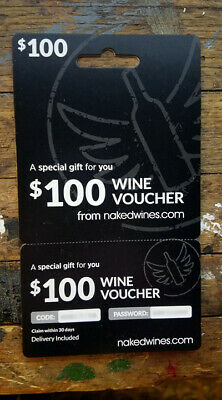 $100.00 NAKEDWINES.COM Wine Voucher GREAT CHRISTMAS GIFT!!! ()