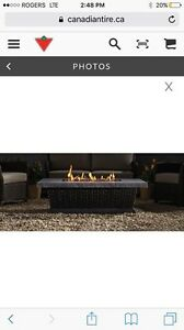Outdoor Canvas gas fireplace