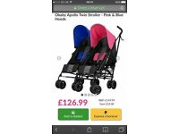 Obaby double pushchair for boy and Girl