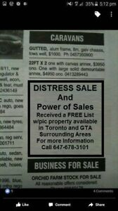 DISTRESS SALE & POWER OF SALE Properties currently available.