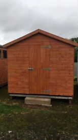 10ft x 8ft Wooden Apex Garden Shed