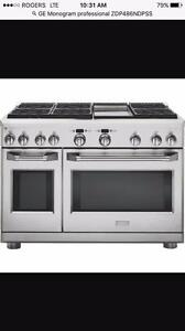 "Monogram 48"" Dual-Fuel Professional Range Stove - Brand New in Box"