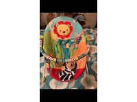 Jungle theme baby bouncer chair
