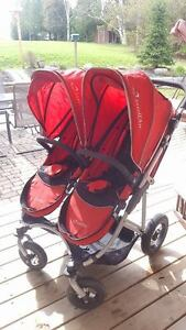 EUC StrollAir My Duo Double Stroller - Red