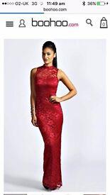 Brand New Boohoo size 10 dress - Berry