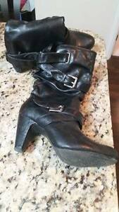 Black Leather size 8.5 Boots