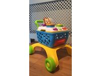 Baby walker shopping trolley