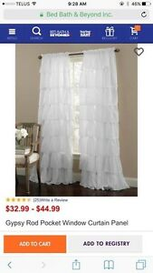 Fancy White Curtains / Drapes