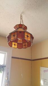 Antique stained-glass lamp