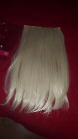blonde long clip in hair (2 different ones)