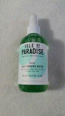Isle of Paradise Self-Tanning Water In Medium - Golden Glow 6.76 oz Brand New