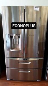 ECONOPLUS LIQUIDATION FRIGO LG 4 PORTES INOX A PRIX INCROYABLE A VOIR ABSOLUMENT