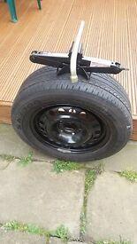 vauxhall wheel tyre /jack /brace