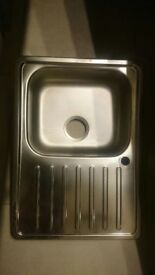 Inset sink, bowl with drainboard