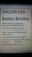 >>SOCCER BASKET VOLLEY ENFANT KIDS U15<<<(4-15ans)