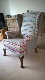 Parker knoll chair re upholstered.