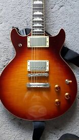 IBANEZ SET-NECK ELECTRIC GUITAR, GIBSON USA PICKUPS, £190 NO OFFERS/TRADES;