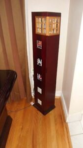 Wooden CD Tower with photo inserts