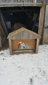 Crèche de Noël en bois de grange