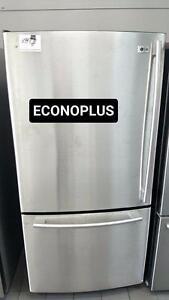 ECONOPLUS LIQUIDATION REFRIGERATEUR IMPECCABLE INOX LG TAXES INCLUSES