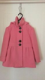 Girls next Coat with hood Age 4-5 Years