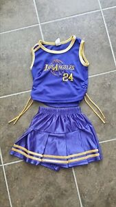 Size 4 LA Lakers cheerleader costume