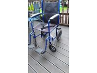 drive fold up wheel chair with 2 brakes good condition