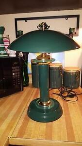"Green 2 Mini Bulb Table Light 17"" Tall"