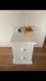 Bed side table - Annie Sloan old white Kingsford Eastern Suburbs Preview