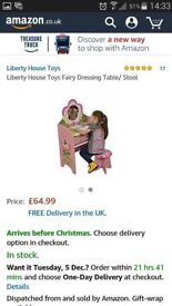 Brand new children dressing table and stopl