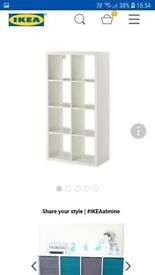 IKEA cube unit with canvas boxes