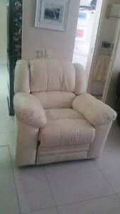 italian leather white recliner chair- great condition Surfers Paradise Gold Coast City Preview