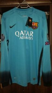 FC BARCELONA 3rd Long Sleeve Jersey 2015-16 ''#11 Neymar Jr'' XL