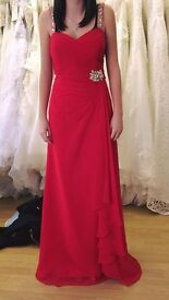 Red bridesmaid/prom dress
