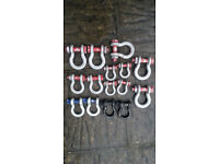 D shackles lifting towing 4x4 industrial offroad expedition overland different sizes