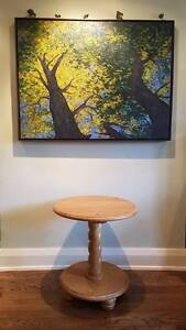 Solid wood Circular End Table