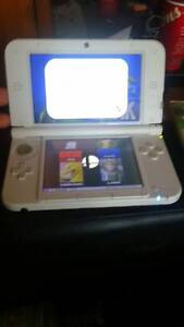 Pink Nintendo 3DSxl with Smash Bro for 3Ds and Pokemon Sapphire