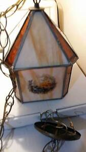 Vintage Stained Glass Ceiling Light Fixture