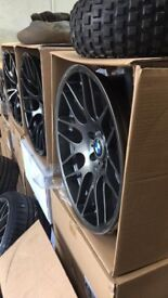 19 inch BMW CSL style staggered 19 inch rims and tyres. (Both new)